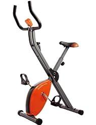Star Shaper zusammenklappbarer Heimtrainer, Orange/Grau/Schwarz, 89x43x114cm