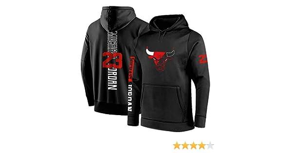 WZHHH Sweat À Capuche De Basketball pour Hommes, Chicago Bulls # 23 Jordan Owen, Vêtement De Sport pour Le Basketball Décontracté, Vêtements De Basket
