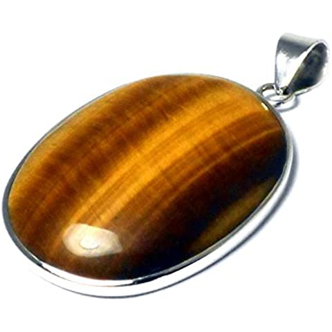 TIGER'S EYE-Ciondolo in argento Sterling 925, TEPT1007152)