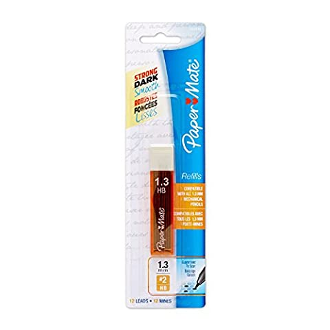 Paper Mate 1.3mm Leads Refill 2HB 12pk Compatible With All Mechanical 1.3mm Pencil's