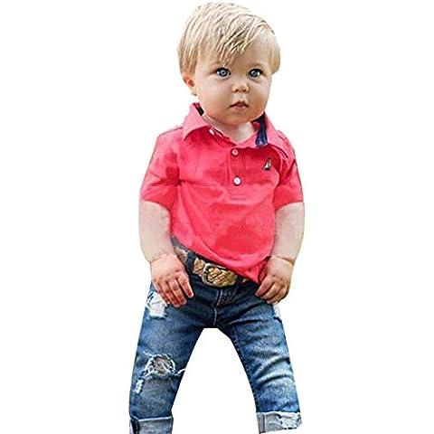 Kingko® Bambini Ragazzi manica lunga Pullover Denim T-shirt + denim dei pantaloni 2016 scherza i vestiti, casual dei ragazzi che coprono insieme