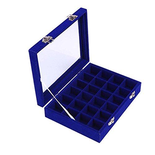 Joyero-organizador-con-24-compartimentos-para-anillos-y-pendientes-de-cristal-y-terciopelo-marca-JuanYa