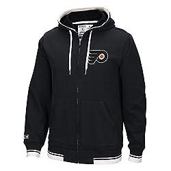 NHL Philadelphia Flyers Mens CCM Fashion Fleece Sweatshirt, Small, Black