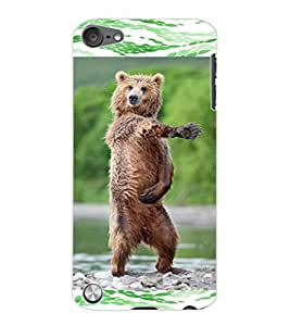 ColourCraft Dancing Bear Design Back Case Cover for APPLE IPOD TOUCH 5