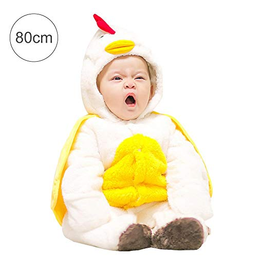 Pigiama/Tutina per neonati Winter Cartoon pollo forma Sleepwear costumi bianco White 80cm