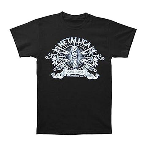 Metallica Men's World Magnetic 08/09 Tour T-shirt X-Large Black