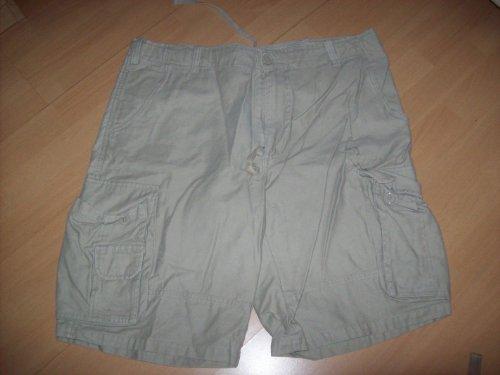 Satin Seitlicher Reißverschluss, Hose (US Aviator Shorts prewashed khaki Gr.L)