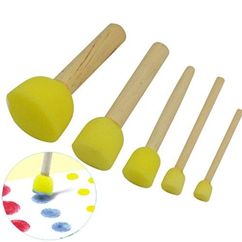 qhgstore-5pcs-bambini-spugna-stamper-acqua-acquerello-olio-gouache-acrilico-pennello