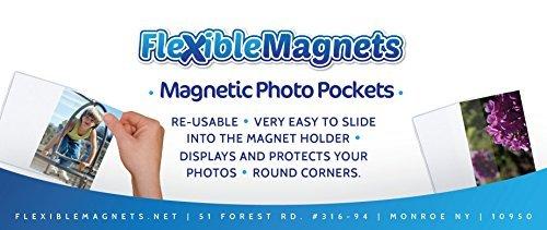 he Foto Bilderrahmen-weiß magnetische Foto Taschen-4x 6Fotos ()