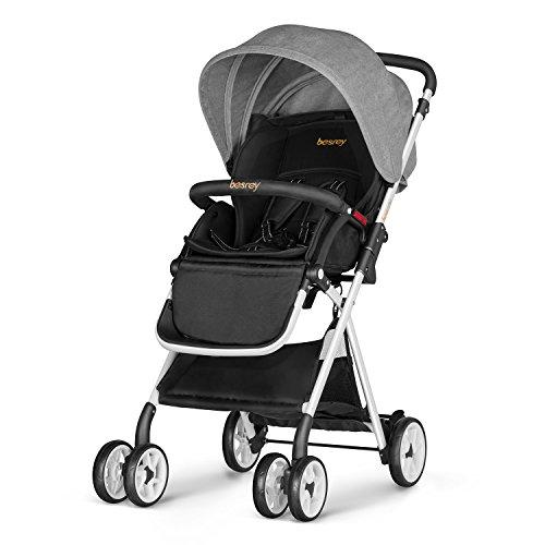 besrey cochecito de bebé de 6-36 Meses capacidad plegable Max 15 kg de carga Acerca de certificación de seguridad ECE color gris