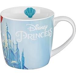 Disney 12767Ariel Taza de porcelana, multicolor, 11,5x 8x 8cm