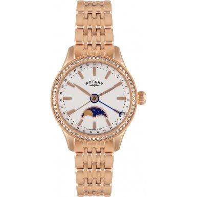 Rotary-Reloj de pulsera analógico para mujer (tamaño XS cuarzo, revestimiento de acero inoxidable lb02854/01