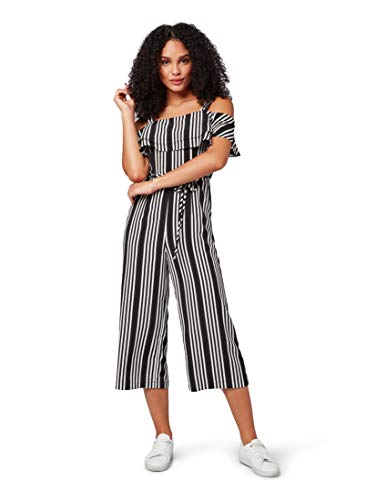 TOM TAILOR für Frauen Overalls & Jumpsuits Jumpsuit Black Vertical Stripe, 36