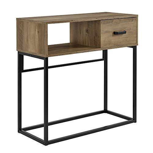 en.casa] Mesa de consola con cajón - 80 x 35 x 80 cm - Mesa para ...
