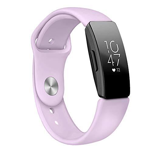 9302sonoaud Cinturino Cinturino Impermeabile in Silicone Morbido per Fitbit Inspire Smart Wristband Rosa Viola S