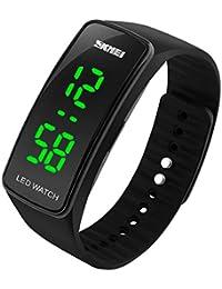 BesWLZ Unisex Kinder Digitaluhr Wasserdichte Sport Armbanduhr für Jungen Uhr Mädchen Kinderuhren (Black)