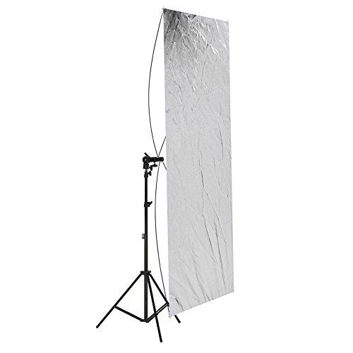 Neewer - Pannello piatto 90 x 180 cm, per riflettere le luci dello studio fotografico, con supporto rotante a 360gradi e borsa da trasporto-oro/argento e nero/bianco