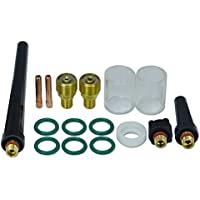 Lente de gas TIG 1,6 mm 2,4 mm Kit de consumibles 10