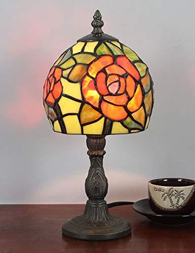 6 zoll kreative orange rose pastoralen minimalistischen stil tischlampe nachttischlampe schreibtischlampe wohnzimmer bar lampe