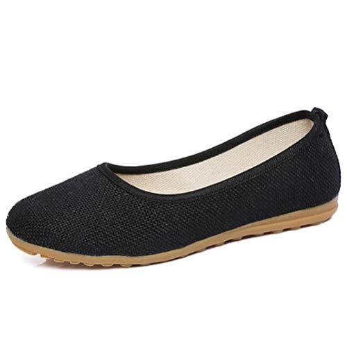 Frauen gestrickte Tuch Loafers Frauen Baumwolle Stoff Flache Schuhe Frauen Komfort Bestickt Schuhe Frauen Casual Flats -