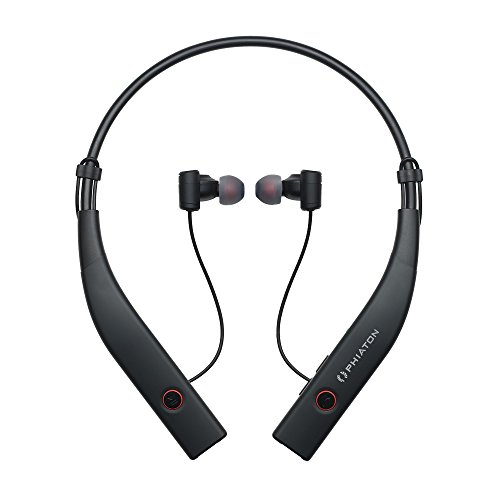 Phiaton BT 100 NC Black Wireless and Active Noise Cancelling Neck Band Style Earphones with Mic