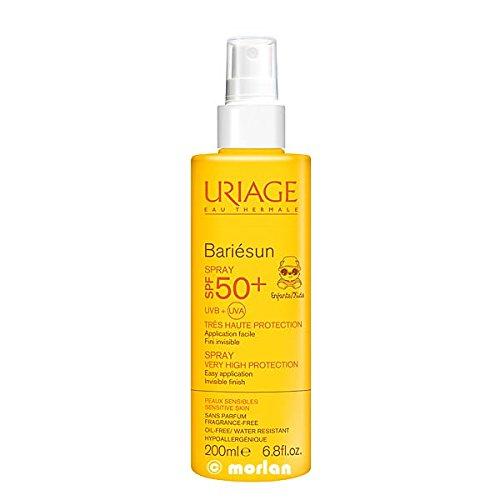 Uriage Coffret Bariésun Spray Enfant SPF 50+ 200 ml + 1 Paire de Lunettes de Plongée Offerte