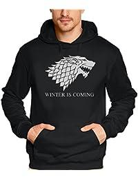 WINTER IS COMING - Game of Thrones, Hoodie - Sweatshirt mit Kapuze XS S M L XL XXL 3XL 4XL 5XL
