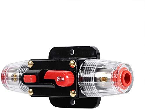 Auto-disjoncteur de réinitialisation de l'inverseur de fusibles pour la voiture Marine système de bateau de protection-12V-24V ( Taille : 80A )