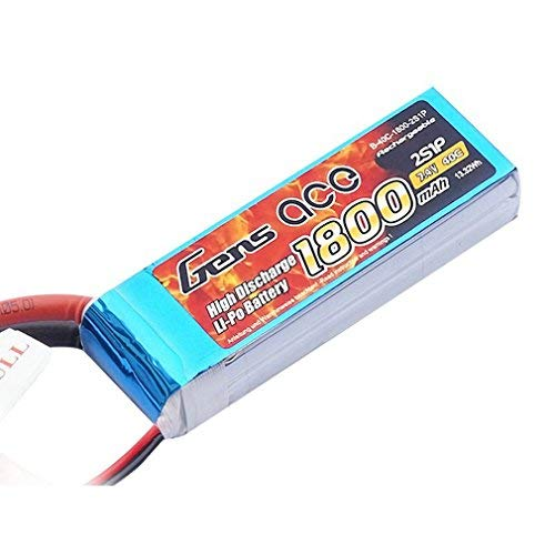Gens ace 1800mAh 7.4V 40C 2S1P Lipo Akku Pack for FPV Racing Quadcopters Diverse Racing Cars, Helikopter, Flugzeuge und Modellboote
