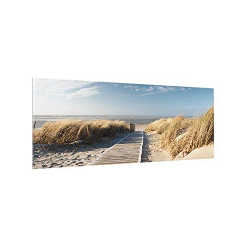 Bilderwelten Spritzschutz Glas - Ostsee Strand - Panorama Quer, HxB: 50cm x 125cm
