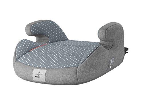 rhöhung Bellybutton mit Isofix/Kindersitzerhöhung ECE-Gruppe 2/3 15-36 kg/Sitzkissen Kinder 3 bis 12 Jahre/Auto-Kinder-Sitzerhöhung grau, Design:grau ()