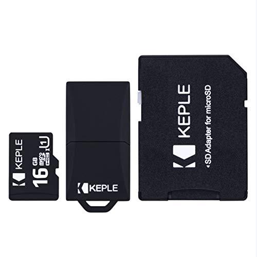 16GB Micro SD Speicherkarte von Keple | MicroSD Class 10 für Go Pro Gopro Hero 3, 4, 5, Session | Drift Stealth 2, Contour Roam 3, Veho Muvi K2 NPNG Action Camera | 16 GB SDHC UHS-1 U1