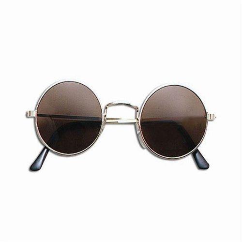Men Womens Round Hippy Hippie 60s 70s John Lennon Ozzy Metal Glasses Fancy Dress DARK SUNGLASSES by Star55
