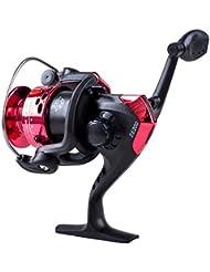 TOOGOO(R) Carrete de pesca Reemplazo de mano izquierda /derecha 3BB cojientes de bolas Ball Bearings Handle Fishing Spinning Reel SE200 5.2:1(Rojo)
