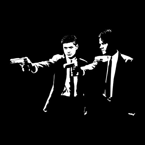 Pulp Fiction Supernatural Sam And Dean Winchester Men's T-Shirt Black