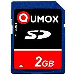 QUMOX SD Secure Digital Flash memoire Carte 2Go 2048 Mo carte mémoire SD pour téléphone appareil photo