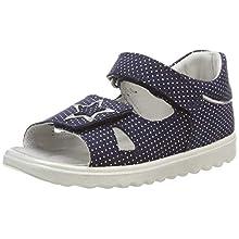 Superfit Baby Girls' Lettie Open Toe Sandals, (Blau 80), 4.5 UK