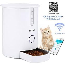 Focuspet Alimentador automático de Mascotas dispensador automático de Alimentos para Gatos y Perros 2.8L Alimentador para Mascotas Gatos con App Programable Remoto Alimentador Inteligente para