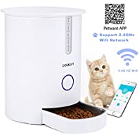 Alimentador automático de Mascotas para Perros y Gatos, Focuspet dispensador automático de alimentos para gatos y perros 2.8L Hasta 6 comidas por día Alimentador para mascotas Alimentador para gatos con APP Programable remoto Alimentador inteligente para gatos Blanco