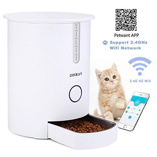 Focuspet Automatischer Futterspender, Automatische Futterspender Für Katzen Hunden 2.8L GEEIGNET NUR FÜR 2,4 G WiFi Katzen Futterautomat mit App Fernbedienung Smart Cat Feeder