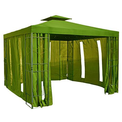 habeig Pavillon Seitenteile WALDGRÜN mit Fenster & Reißverschluß an JEDER Seite Pavillion