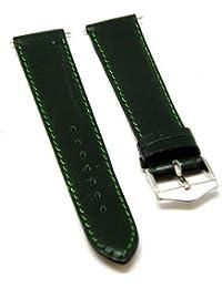 Reloj De Pulsera Fortis piel verde con costura verde 18mm Nuevo 8509