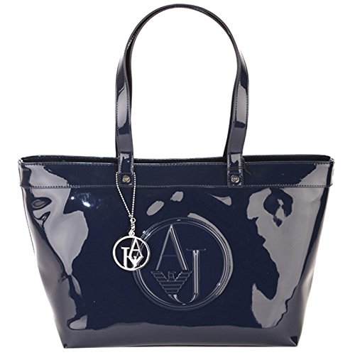 Armani Jeans Shopping bag woman Pvc/Plastica Blue