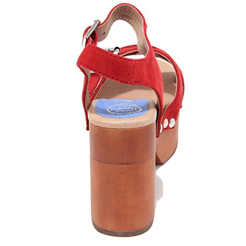 4386M sandali donna JEFFREY CAMPBELL legno peasy women shoes sandals Rosso