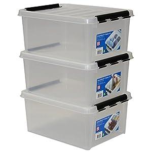 Hammarplast 3er-Set Clipbox Smart Store Classic 15 40 x 30 x 19 cm, 15 Ltr, 3508