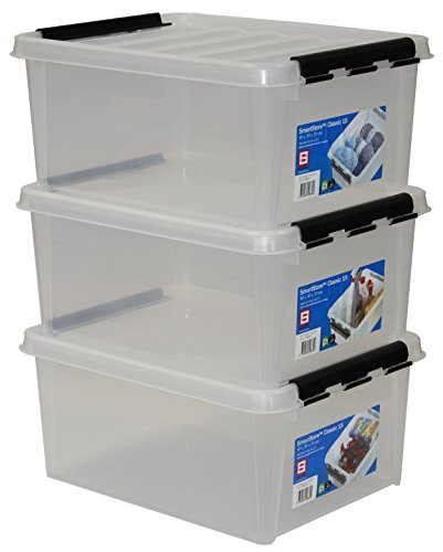 Hammarplast 3er-Set Clipbox Smart Store Classic 15 40 x 30 x 19 cm, 15 Ltr, 3508 (System Storage Box)