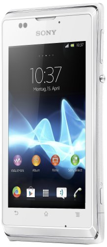 Sony Xperia E Smartphone (8,9 cm (3,5 Zoll) Touchscreen, Qualcomm, 1GHz, 512MB RAM, 4GB HDD, 3,2 Megapixel Kamera, Android 4.1) weiß