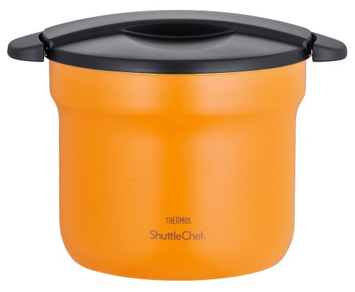 THERMOS vacuum thermal insulation cooker shuttle chef 4.3L apricot KBF-4500 APR (Japan import / The package and the manual are written in Japanese)