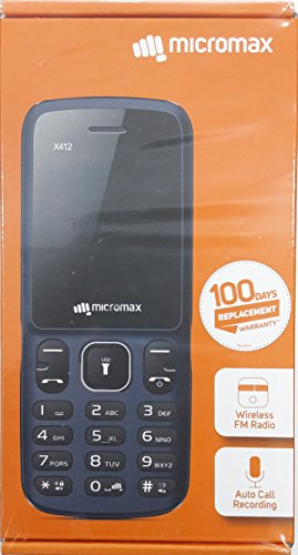 MICROMAX X412 AUTO CALL RECORDING MOBILE PHONE BLACK+GREY