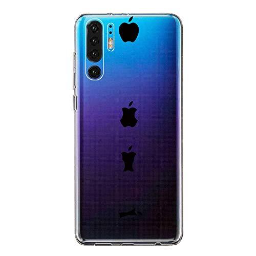 Hülle Case Kompatibel für Huawei P30 Handyhülle,Huawei P30 Pro Schutzhülle Ultradünn Transparent Silikon Soft TPU Crystal Clear Bumpe Schutzhülle für Huawei P30 Lite (2, Huawei P30 Lite) -